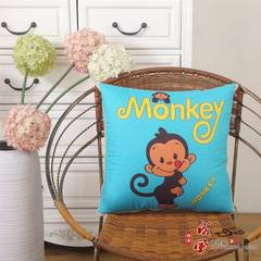 Multi-functional cartoon pillow quilt double - purpose cushion for leaning on to customize LOGO acti The monkey No quilting 40*40cm [unfold 110*150]
