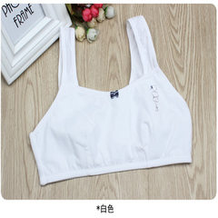 New girls` underwear development period pure cotton vest bra thin primary school students sports bra white 34/75