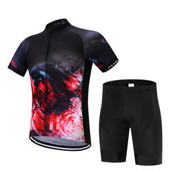 FUALRNY professional cycling apparel factory spot wholesale hot - selling back - band cycling appare With short sleeves s.