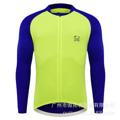 Cross-border #60310 summer cycling wear long-sleeve spring and autumn moisture absorption and perspi green m