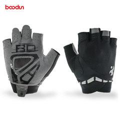 BOODUN/博顿女款健身手套 透气半指瑜伽手套 防滑耐磨运动手套 黑色 M