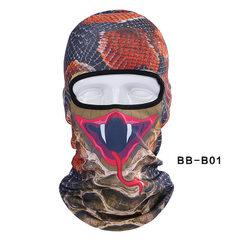 青龙林骑行面罩3d动物头套运动 面罩户外防风防晒巴拉克拉法 BB-B-01 均码