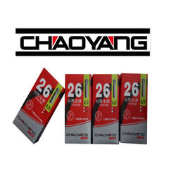 Acting chaoyang 26*1.75 2.125 AV meizui mountain bike tire thickening butyl rubber inner tire 26 * 1.75 to 2.125