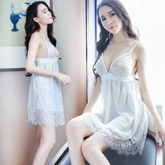 Direct selling sexy pyjamas lace transparent gauze underwear condole belt sleeping skirt lady extrem White Se is no more than a sleeping skirt All code