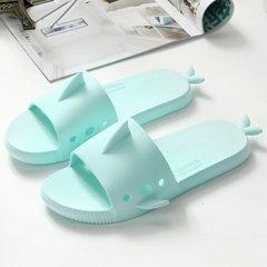 夏季家居拖鞋室内外防滑浴室男女拖鞋女式平底凉拖韩版拖鞋 绿色 36/37