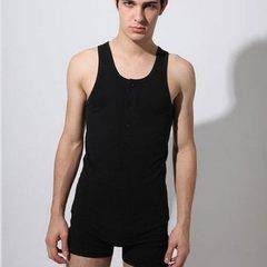 Men`s fashion style, European and American style, sex appeal, sex appeal, style, sex appeal, vest, p black m