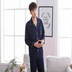 Long sleeve pajamas for lovers in spring and autumn ZDX- crown jewels Male L (height 163-174, weight 110-135 kg)