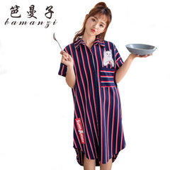 Bagger summer new style home wear spring and summer women sleep skirt short sleeve thin cotton avera purple All code
