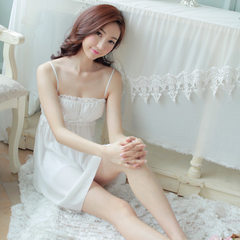 Spot female summer lovely condole belt pyjamas princess pyjamas girl-straps sleeping skirt sex appea white m
