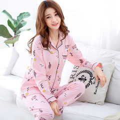 PJS spring 2018 new long-sleeved pantsuit and pantsuit for ladies comfortable PJS fashionable home w 6706 m