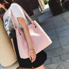 Zi mu two pieces female bag spring and summer 2017 new style Korean style single shoulder bag with l red