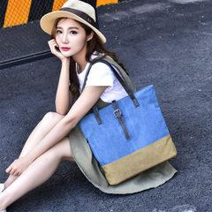 Vintage art canvas bag women`s simple canvas bag women`s canvas bag large capacity fabric hand bill  red