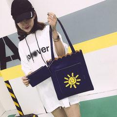 New Korean version of handbag woman 2018 simple pu lady handbag mother bag shopping single shoulder  red