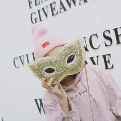 Wholesale 2018 fashion slanting bag superman eyeglasses mask sequin chain bag single shoulder slanti golden