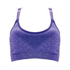New anti - glare gathered bra seamless yoga underwear wrapped breast wipe thin sports bra manufactur black M, 70-75 - b