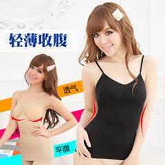 产后平纹 塑形吊带款日本塑身衣塑身内衣背心美体衣-w013 黑色 M