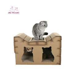 Cat house cat scratch board cat litter wear - resistant and thickened corrugated cardboard cat pet s As shown in figure 60 * 37 * 40