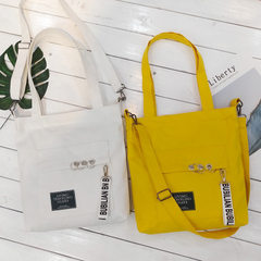 New canvas bag for female students Korean version of the original uIzzang sen female department chic white