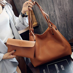 Da bao 2018 spring new style women`s one-shoulder bag of pure color leisure women`s bag with 100 pie red