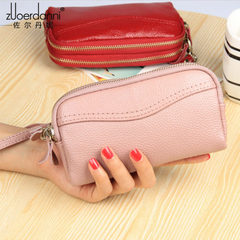 New style leather leather, European and American style mobile phone bag, double zipper, ladies holdi C262 red
