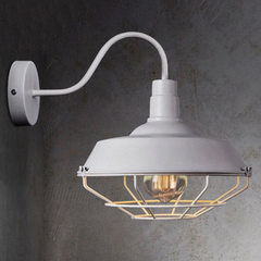 American style wall lamp LOFT retro industrial wind iron art pot cover with net wall lamp bar and re 260 mm diameter