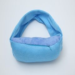 Milk silk multi-functional neck pillow eye mask wholesale aircraft travel eye mask pillow portable c blue 22 * 11 * 7