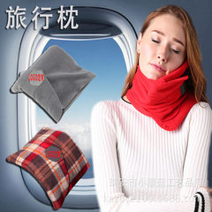 Long - distance airplane travel pillow portable airplane pillow neck guard pillow u type pillow nap  Red (classic)