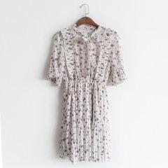 Spring and summer 2018 new women`s dress South Korea east gate Korean version of organ edge female c white All code