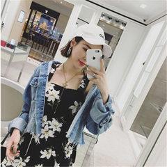 2018夏季新款时尚女装 宽松花朵碎花吊带露肩雪纺荷叶边女连衣裙 花色 S