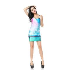 新款修身弹力包臀背心短裙连衣裙TTQ1056 图片色 M