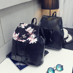 2017 new style iris double shoulder bag female Korean version of the fashion ladies backpack female  Cover with iris