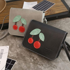 Vintage Korean version of fruit cherry small side bag single shoulder bag a piece of hair retro colo black