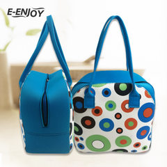 Can be customized diving materials women`s handbag soft surface fashion sports hands carry women bag multicolor