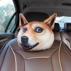 Headrest of 3D husky car headrest car neck pillow chair pillow neck pillow pillow neck pillow cartoo akitas 22 * 28 cm