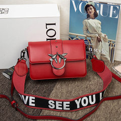 Pu swallows bag double shoulder strap European and American fashion spring 2018 new style women`s si Big red (two shoulder straps)