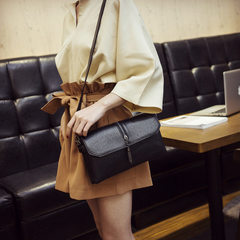 New style tassel single shoulder bag autumn/winter leisure oblique bag fashion envelope with soft le black