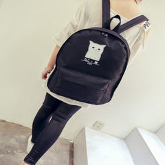 New style 100 take a cloth backpack tide high school girls schoolbag computer bag leisure backpack white