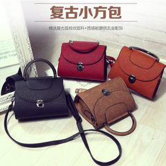 Female bag fashionable restore ancient ways small square bag elegance fair maiden temperament Europe Wine red