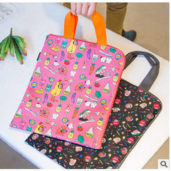 Uncle bentoy monster tote bag ipad pro hand carry bag ulzzang computer bag A4 file bag black