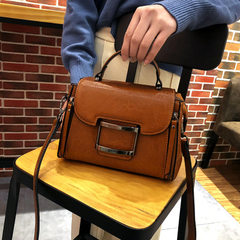 Guangzhou factory 2018 new genuine leather female bag wholesale oil wax cow leather bag fashionable  black
