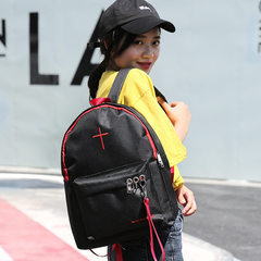 2018 hot new style women`s shoulder bag pure color cross Korean canvas women`s fashion bag a hair Black month