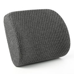 小额批办公室腰靠 西诺思记忆棉腰靠 汽车腰垫 学生护腰座椅靠垫 竖条纹深空灰 38.5*35*12cm