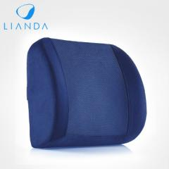 Cushion for leaning on manufacturer wholesale comfortable automobile waist by office space memory cu Blue mesh cloth + cut wool 38 * 5 * 32 * 12 cm