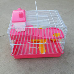 Patel promotes the hamster cage gold wire bear cage outside the cage transportation blind date cage Color random