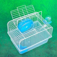 Factory direct sale hamster cage baby portable cage small rural hamster cage portable cage outside t red