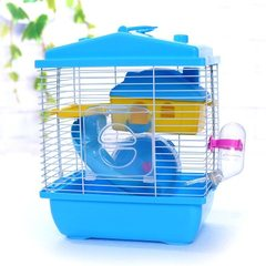 Hamster cage hamster cage hamster house hamster supplies double villa new acrylic door small villa pink