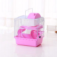 Wholesale hamster cage small castle double - deck pet cage villa orange