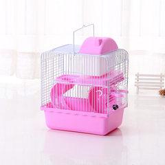 Wholesale hamster cage small castle double - deck pet cage villa brown