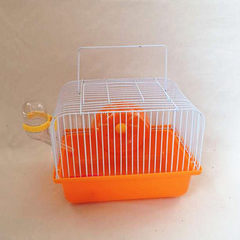 Hamster cage hamster cage bear cage sunny hand cage with cage outside fuda small field Mixed color