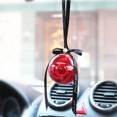 Yongsheng rose car interior decoration car decoration car decoration festival promotion activities c Bright red